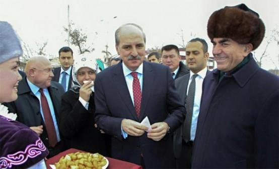 BAŞBAKAN Yardımcısı Numan Kurtulmuş, bir takım inceleme ve ziyaretlerde bulunmak için Kırgızistan'ın başkenti Bişkek'e gitti. Bişkek ziyaretine eşini de götüren Kurtulmuş'un yanında sürpriz bir isim daha vardı. Ak Parti Ordu Milletvekili İhsan Şener.