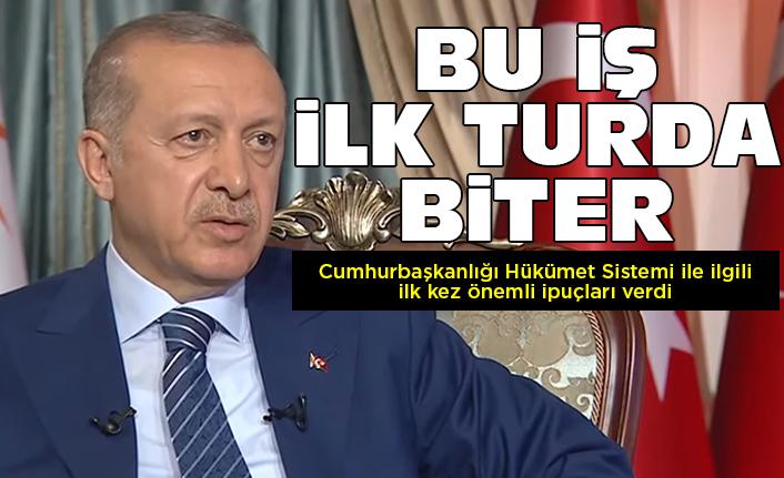 """Cumhurbaşkanı Erdoğan: """"Bu iş ilk turda biter!"""""""