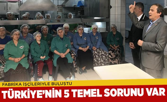 Türkiye'nin 5 temel sorunu var