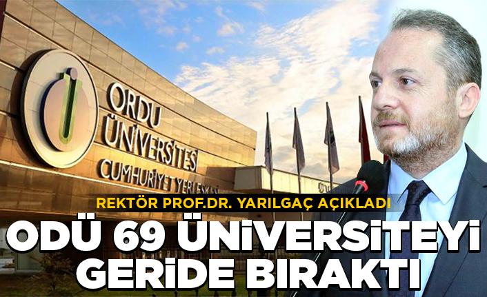 ODÜ 69 üniversitesi geride bıraktı