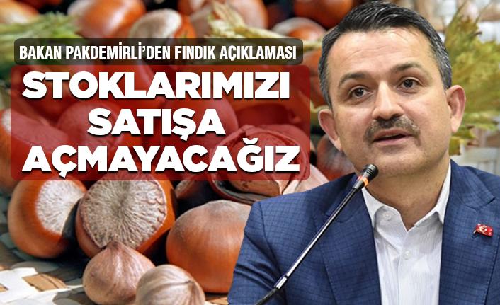 Tarım Bakanı'ndan flaş fındık açıklaması