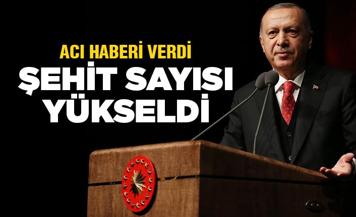 Erdoğan açıkladı: 7 evladımız şehit oldu!