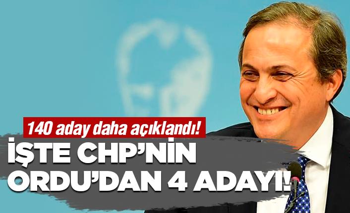 CHP'nin Ordu'da 4 adayı belli oldu!