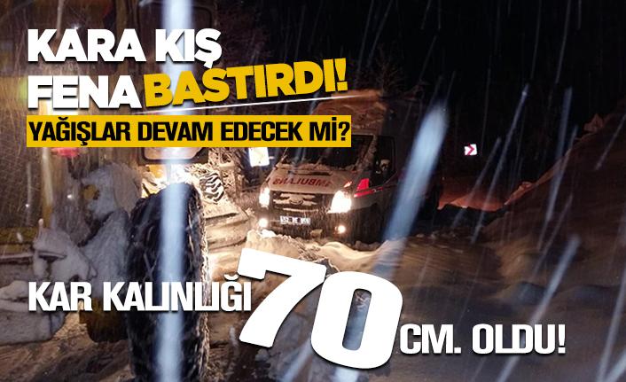 Ordu'da kar kalınlığı 70 cm oldu!