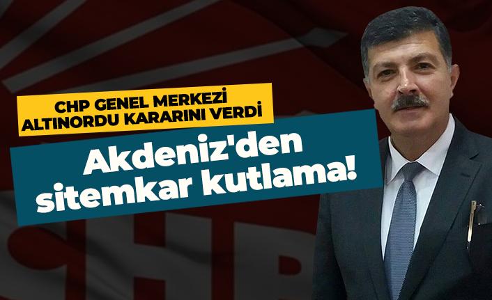 CHP'li Akdeniz'den sitemkar kutlama!