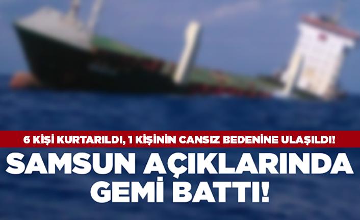 Samsun'da gemi battı!