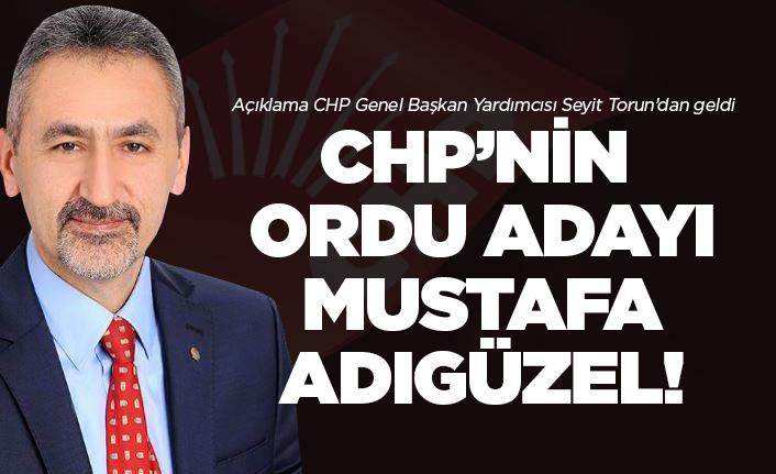 CHP'nin Ordu adayı Adıgüzel oldu!