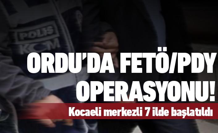 Ordu'da FETÖ/PDY operasyonu!