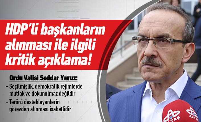 Vali Yavuz'dan kritik açıklama!