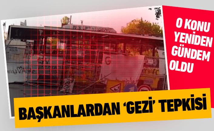 Belediye başkanlarından 'Gezi' tepkisi