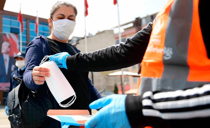 Maske isteyenler Altınordu Belediyesi'ne