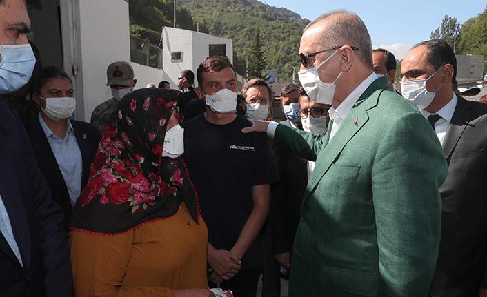 Cumhurbaşkanı Erdoğan Dereli'yi geçti