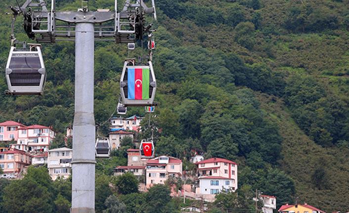 Ordu'dan Azerbaycan'a 'bayraklı' destek
