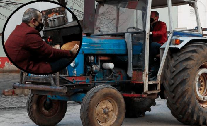 Ordu Valisi traktör kullanıp kuzinede ekmek pişirdi