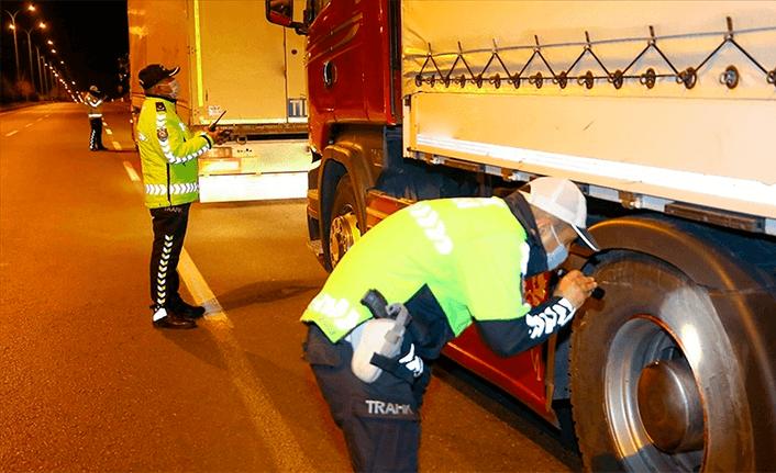 Ülke genelinde kış lastiği denetimi yapıldı
