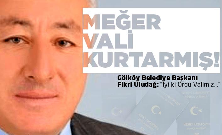 Gölköy Belediyesi kılpayı kurtulmuş!