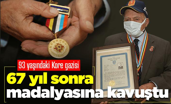 Kore gazisi 67 yıl sonra madalyasına kavuştu