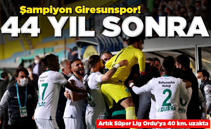 Giresunspor 44 yıl sonra Süper Lig'de