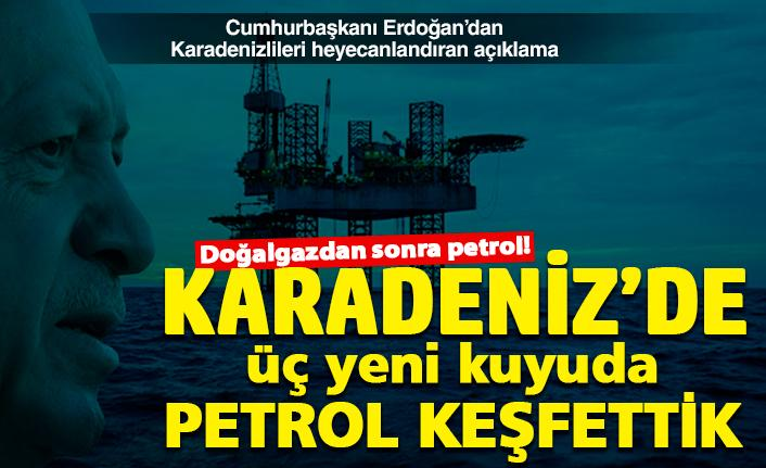 Karadeniz'de üç yeni kuyuda petrol müjdesi!