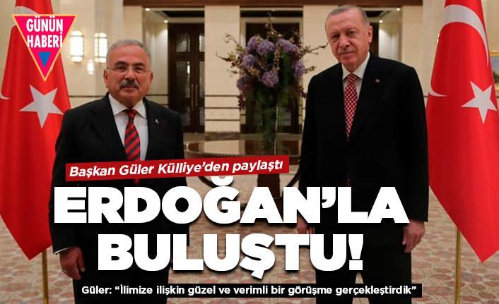 Cumhurbaşkanı Erdoğan Başkan Güler'i kabul etti
