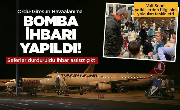Ordu-Giresun Havalimanı'nda bomba paniği