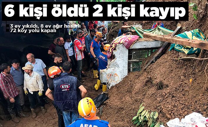 Rize'de 6 ölü 2 kişi hala kayıp