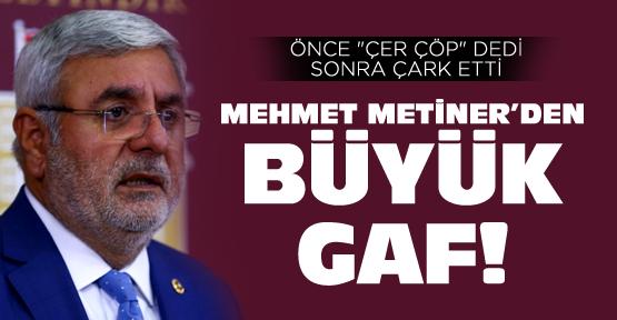 AK Partili Metiner'den büyük gaf!