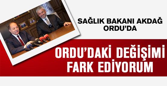 Bakan Akdağ'dan Ordu övgüsü!