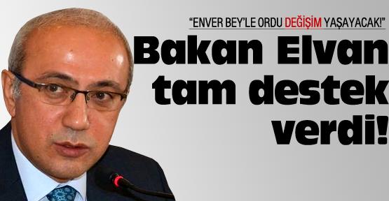 Bakan Elvan'dan Yılmaz'a tam destek!