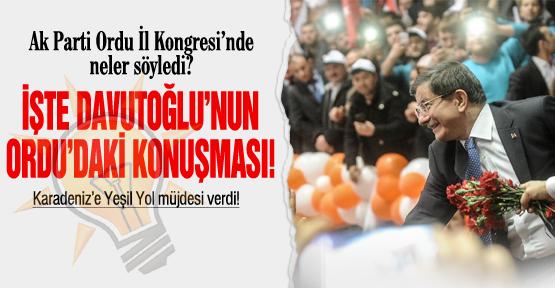 Başbakan Davutoğlu neler söyledi?