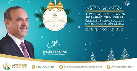 Başkan Tekintaş'ın yeni yıl kutlaması