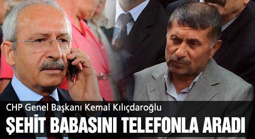 CHP Lideri de telefonla taziyelerini iletti