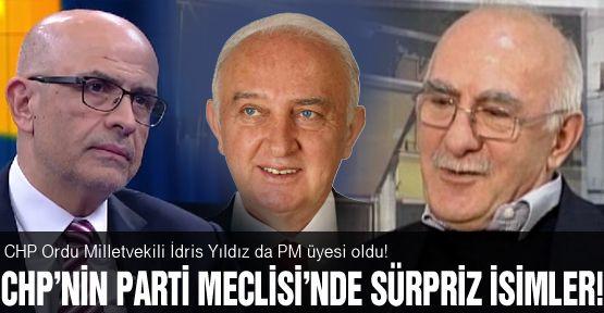 CHP PM'de sürpriz isimler!