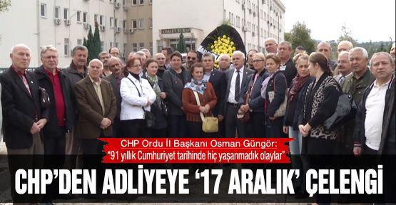 CHP'den adliyeye '17 Aralık' çelengi
