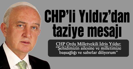 CHP'li Yıldız'dan taziye mesajı