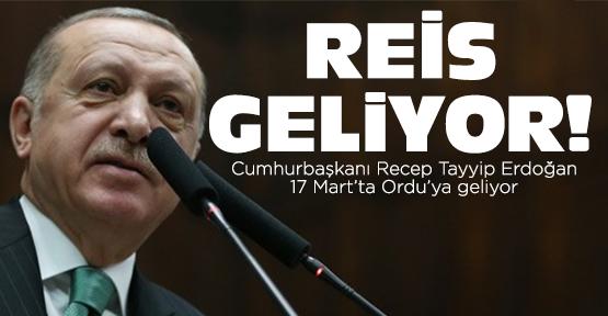 Cumhurbaşkanı Erdoğan Ordu'ya geliyor
