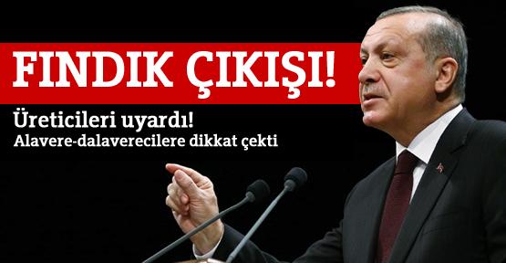 Cumhurbaşkanı Erdoğan'dan fındık çıkışı!