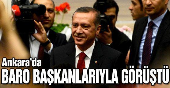 Erdoğan, baro başkanlarıyla görüştü