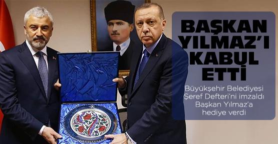 Erdoğan, Başkan Yılmaz'ı kabul etti