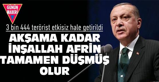 Erdoğan'dan flaş Afrin açıklaması