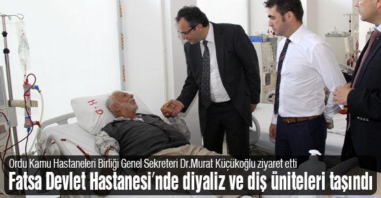 Fatsa Devlet Hastanesi'nda diyaliz ve diş üniteleri taşındı