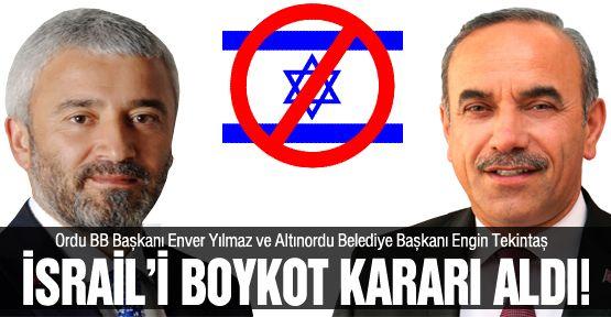 İsrail'i boykot kararı aldılar!