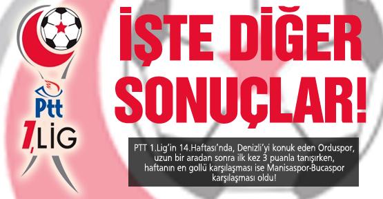 İşte PTT 1.Lig 14.Hafta toplu sonuçları!