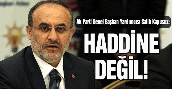 """Kapusuz: """"Suçlayıcı ifadeler kullanmak Baro Başkanı'nın haddi değil"""""""