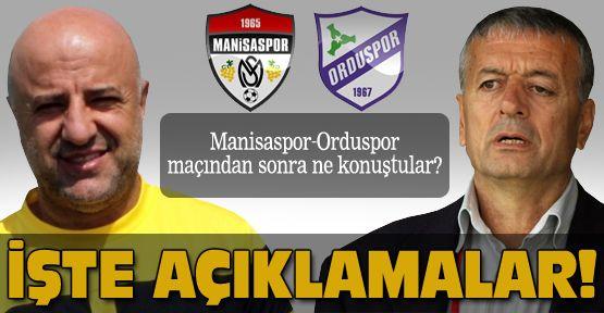 Manisaspor-Orduspor maçının değerlendirmesi