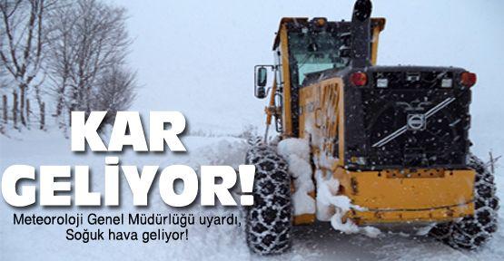 Meteoroloji'den soğuk hava uyarısı!