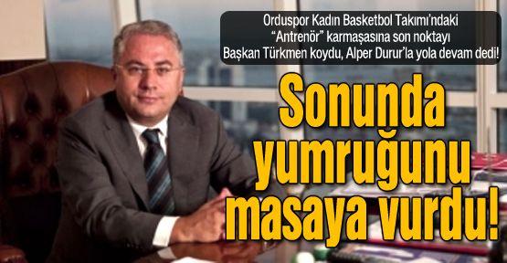 Nedim Türkmen yumruğunu masaya vurdu!