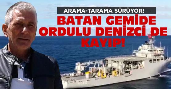 Ordulu gemici de kayıplar arasında!