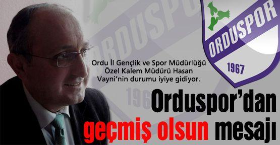 Orduspor'dan Hasan Vayni'ye geçmiş olsun mesajı