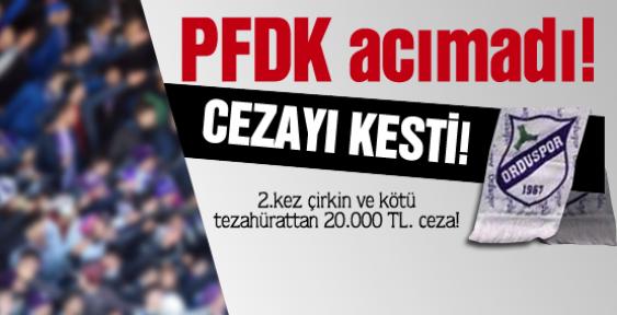 PFDK Denizlispor faturasını kesti!